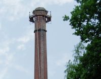Brick chimney with access platform